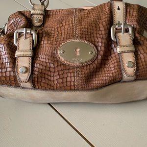 Fossils brown ladies bag handbag 13X9.5